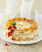 Peach and cream cake