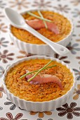 Pumpkin mousse with grilled bacon