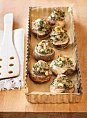 Stuffed mushrooms filled with meat