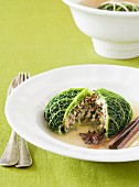 Stuffed cabbage roulade