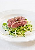 Beef with courgette strips