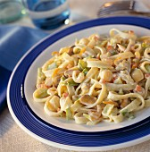 Tagliatelles with seafood