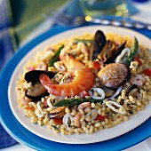 Seafood Paëlla with wheat