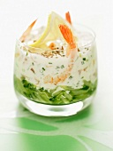 Shrimp and salmon fresh Verrine
