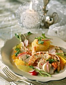 Langoustines and scallops with citrus fruit