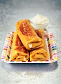 Pancakes filled with Faisselle