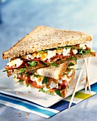 Club-Sandwich mit Bayoner Rohschinken