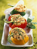 Bell peppers stuffed with tuna