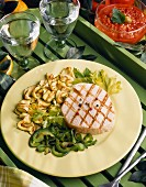 Tuna steak with grilled vegetables