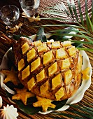 Gammon garnished with pineapple
