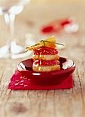 Jakobsmuschel-Feigen-Türmchen mit Honigglasur