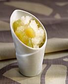 White grape granita with Riesling and honey
