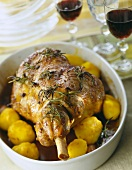 Oven roasted leg of lamb