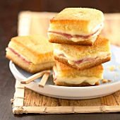 Mini Croque Monsieur toasted sandwiches