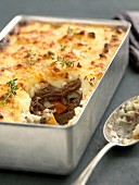 Pot-au-feu au gratin with thyme