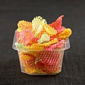 Colored crisps