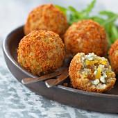 Breaded fish balls