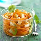 Carrot, orange and Reblochon salad