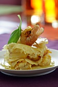 Pineapple and shrimp Mille-feuille