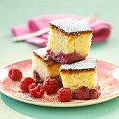 Raspberry and yoghurt cake