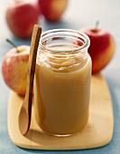Stewed apple puree