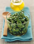 Broad beans with savory
