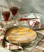 Normandy rhubarb meringue pie