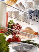 Fresh food products in the refrigerator