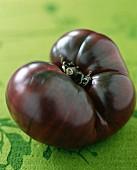 A Black Krim beefsteak tomato