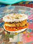 Tofu Rice Cake Sandwich