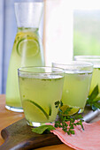 Lime Lemonade with Herbs
