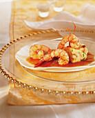 Shrimp tails in tomato sauce