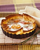 Savoury tart with country ham and chives