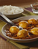 Egg massala (boiled eggs in a curry sauce, India)