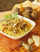 Saffron risotto with porcini mushrooms