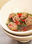 beef and sesame seed broth