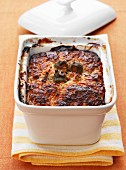 Rabbit and green olive savoury cake