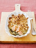 Salmon crumble