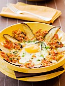 Eggplant Tajine with egg