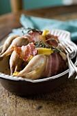 Quails with pancetta
