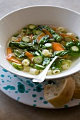 Vegetable broth with pasta