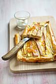 Rhubarb and orange zest tart