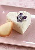 Heart-shaped Fromage frais