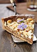 Chestnut and honey tart