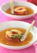 Warm peach soup