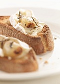 Creamy cheese and garlic Crostinis