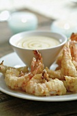Shrimps with yoghurt and honey sauce