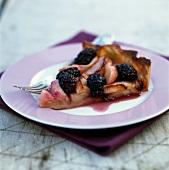 Blackberry and apple tart