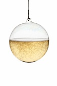 Christmas glass ball decoration full of champagne