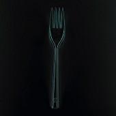 Fork on a black background